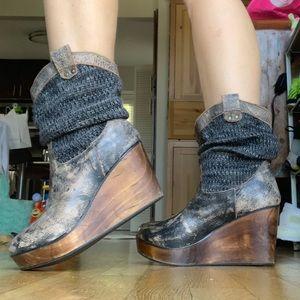 *Bed Stu* Bruges Clobber series slouch boots